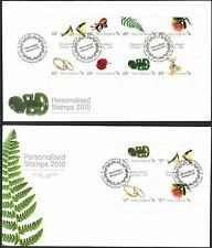 New Zealand 2010 Personalised stamps (2) 2 FDC