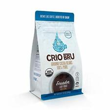 Crio Bru Ecuador Light Roast Ground Cocoa Beans Rich and Floral  10 oz