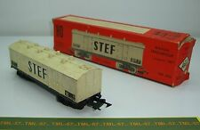 Wagon JOUEF Ancien Couvert STEF à bogies à Diamond TP ref 656 Boite Ancienne