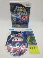 Super Mario Galaxy (Nintendo Wii, 2007) Complete w/ Manual, Nice Disc! Bros