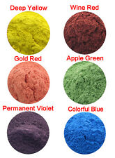 10g Cosmetic Grade Natural Mica Powder Soap Candle Colorant Dye 6 Colors