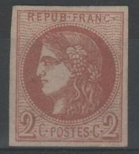 "FRANCE STAMP TIMBRE 40 B "" CERES BORDEAUX 2c BRUN-ROUGE "" NEUF x TTB  M910"