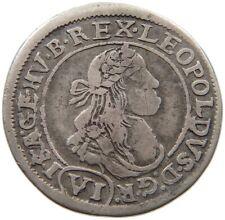 AUSTRIA 6 KREUZER LEOPOLD 1672 KB #s59 725