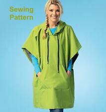 Kwik Sew K4043 Kwik Start Learn To Sew Pattern Misses Ponchos XS-XL BN
