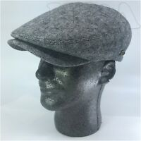 New Improved Wool Men's Cabbie Paperboy Newsboy Snapbill Ivy Hat Cap IV3047 Gray