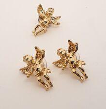 Ballou Cherub Earrings and pin set