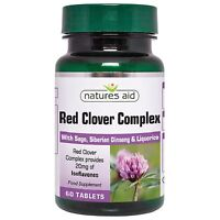 Red Clover Complex 60 tabs with Sage, Siberian Ginseng & Liquorice - Natures Aid