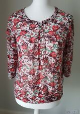 Monsoon red floral blouse