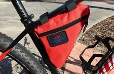 RACE-READY.. Bike Top Tube Triangle Saddle Bag..Cycling Tool Storage Bag ..RED