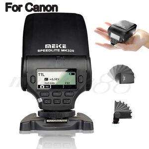 MeiKe MK-320 LCD TTL Manul Flash HSS Master Speedlite For Canon EOS 5D Mark II