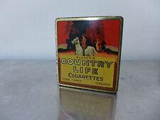 Rare 10er Zigarettendose Design Art Déco country life american cigarette tin
