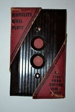 VINTAGE BAKELITE  PUSH BUTTON Wall Switch Cover New Old Stock Light Switch