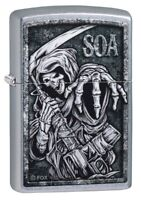 Zippo Sons of Anarchy Street Chrome Windproof Pocket Lighter, 49004