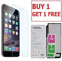 100% GENUINE TEMPERED GLASS LCD FILM SCREEN PROTECTOR FOR APPLE IPHONE 7 8 - NEW