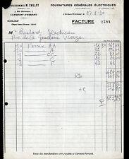 """CLERMONT-FERRAND (63) FOURNITURES GENERALES ELECTRIQUES """"M. CAILLOT"""" en 1930"""