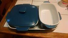 kitchen cookware Emeril blue stoneware set