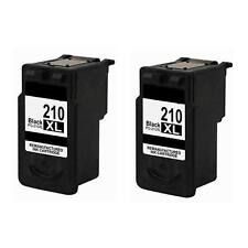 2PK Compatible with Canon PG 210XL Black Ink for PIXMA MP250 MX410 MX420 MP270