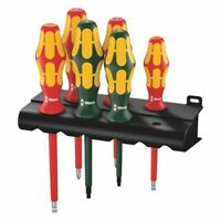 Wera 05347777001 Insulated Screwdriver Set,Slotted/Phillips,Square,6 Pcs