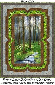 Sunny Forest quilt kit Timeless Treasures Scenic Forest 47x65