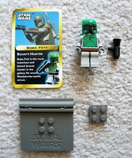 LEGO Star Wars - Rare - Classic Gray Boba Fett w/ Stand & Card - From 3341