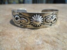 REAL SCARCE OLD Fred Harvey Era Navajo Sterling Silver  APPLIED SNAKES  Bracelet
