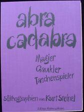 Abra Cadabra - Kurt Stenil's Six Color Lithographs - From 1970 Germany!