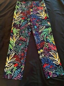 Joseph Ribkoff Multi-Color Print Pull On Ankle Pant - Size 12 - NWT
