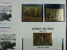 119/SPACE RAUMFAHRT 1969 Ras al Khaima Wernher v. Braun Gold 297 A/B + Bl.68 MNH