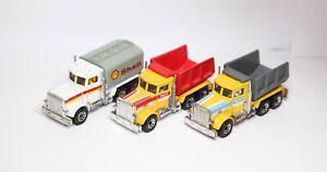 Matchbox Convoy Peterbilt Trucks Joblot / Collection X3 - Pace / Shell