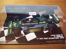 1/43 LOTUS 1979 FORD MARTINI 79 NIGEL MANSELL PAUL RICARD TEST