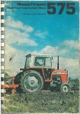 Massey Ferguson Tractor MF575 Operators Manual - MF 575