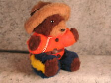vintage CANADIAN MOUNTED POLICE mounty plush toy brown bear Spruce Grove Canada
