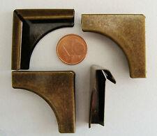 8 ANGLES métal BRONZE simple 33mm coin Cartonnage Scrapbooking