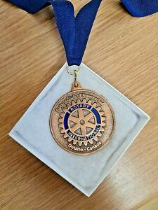 Rotary International President Elect Medal Blue Silk Ribbon & Box Ontario Canada