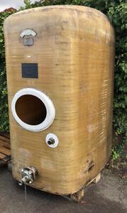 Weintank GFK Tank Lagertank Zisterne AHL Molke Wasser Regenwasser Abwasser 3000l