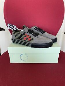 Off White $400 Arrows Vulcanised Low Top Sneakers 43–10 US. NIB !