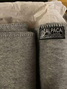Peruvian Alpaca Co Grey Scarf 100% Alpaca