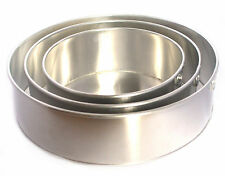 "3 Tier Round Aluminium Cake Tin Baking Pan 6"" 8"" 10"" Value Range"