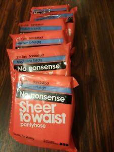 Ladies Panty Hose 6 single pair packages.