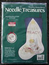 """The Christmas Story Stocking 16"""" Cross Stitch Kit Needle Treasures Flickinger"""