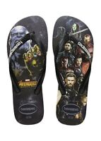 Havaianas Men's Top Marvel Avengers Flip Flop Sandals - Black/Black NWT