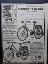 Publicité ancienne, bicyclette a moteur Hirondelle issue de magazine 49