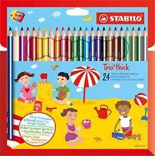 Stabilo Trio Etui de 24 Crayons avec Taille-crayon Couleurs assorties