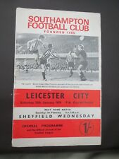 Southampton V  Leicester FA Cup 1969/0  2