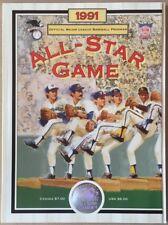 1991 ALL STAR GAME PROGRAM MLB SKYDOME TORONTO BLUE JAYS CAL RIPKEN JR MVP 7238