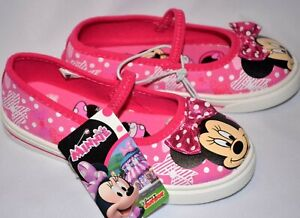 DISNEY DISNEP MINNIE MOUSE MICKEY PINK WHITE FLATS SNEAKERS SLIP ON SIZE 10 NEW