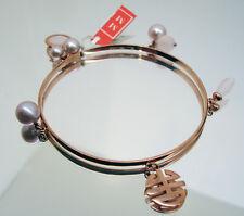 bracelet MIMì pink GOLD 9k, violet pearls, pink quartz