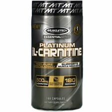 Muscletech Platinum 100 Carnitine 180 Capsules Banned Substance Free, GMP