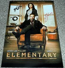 """ELEMENTARY CASTX2 PP SIGNED POSTER 12""""X8"""" A4 SHERLOCK JOHNNY LEE MILLER LUCY LIU"""