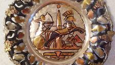 Vintage Handmade In Egypt Aluminum Copper Brass Metal Decorative Plate - Ramsis